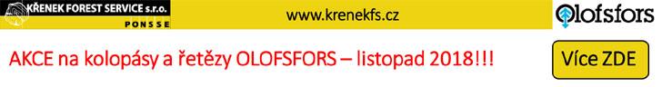 KŘENEK FOREST SERVICE - AKCE na kolopásy a řetězy Olofsfors