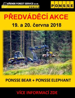 Předváděcí akce PONSSE BEAR A PONSSE ELEPHANT