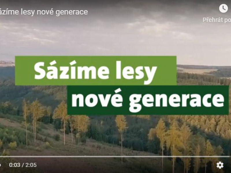 """Kampaň Lesů ČR """"Sázíme lesy nové generace"""""""