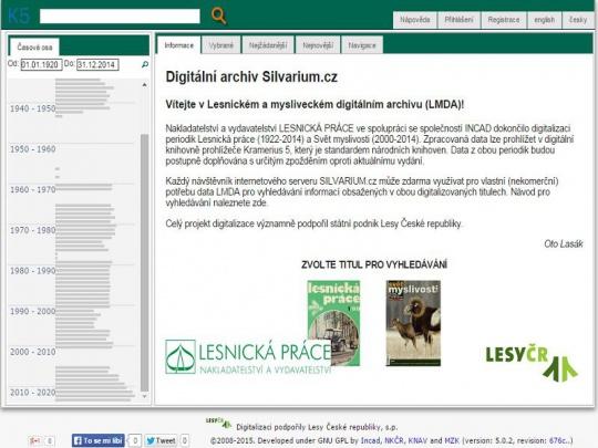 Provoz lesnického a mysliveckého digitálního archivu na Silvariu zahájen!