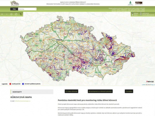 Proběhla jarní aktualizace Kůrovcové mapy