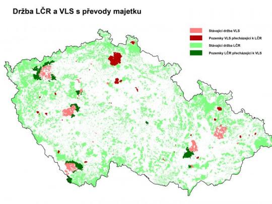 Lesy ČR a VLS ČR si vymění rozsáhlé pozemky, chtějí tak zefektivnit hospodaření